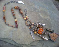 Souvenirs anciens chaman amulette Charm Necklace