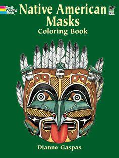 30 authentic disguises used in tribal rituals and recreation: Eskimo dance mask, Iroquois false face, Navaho ceremonial mask, Hopi Powamu mask, Kwakiutl bear mask, Tlingit raven mask, 24 others. Identifying captions.