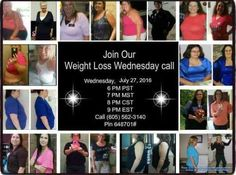 Do not miss the call!!!!! Call in and listen to some of our awesome weight loss successes!!! Wednesday July 27th 2016  6 PM PST 7 PM MST 8 PM CST 9 PM EST Call (605) 562-3140 Pin 648701# #realpeoplerealresults #moms #dads #getstartednow #stayathomemoms #stayathomedads #workingmoms #workingdads #atkins #weightwatchers #lowcarb #lowcal #paleo #vegan #doingit #gym #fitness #diabeties #loseweight #healthy #love #lifeiswhatyoumakeit #choices #healthyliving #allnatural #nochemicals #results…