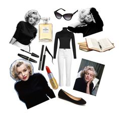 """""""Untitled #129"""" by ameun ❤ liked on Polyvore featuring John Smedley, Marilyn Monroe, Winky Lux, Joseph, Chanel and Forever 21"""