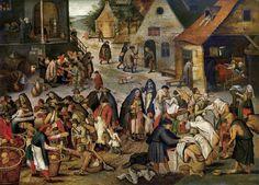 14_Питер Брейгель младший Адский (1564-1638) Семь дел милосердия_дерево (дуб) масло