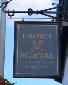 Pub Sign Art a la cARTe: The Crown & Sceptre - Taunton, Somerset