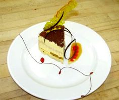 Plated Dessert Ideas - I love that it goes from one end of the plate to the plate to the other!