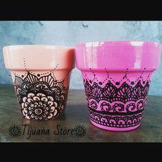 Macetas pintadas con mandalas by Tijuana_Store ❤