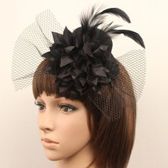 2015 Bridal Hair Jewelry Women Girl Lady Black Party Cocktail Prom Bridal Wedding Feather Fascinator Mini Hat Headwear 18055 Navy Hats For Weddings Purple Wedding Hat From Toprated, $4.43| Dhgate.Com
