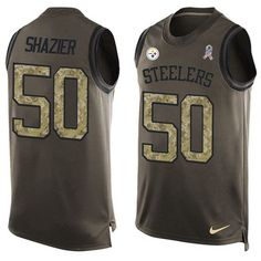 Nike Steelers #50 #Ryan #Shazier Green Men's Stitched NFL Limited Salute To Service Tank Top