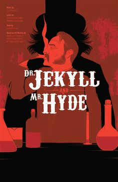 Book Cover (Dr Jakell & Mr Hyde) - use of red and black silhouette adds to the sinister storyline.