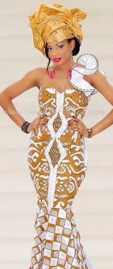 Tenue africaine et robe africaine pour mariage : Mariage Africain sur sagnse france / Tenue de soirée africaine.