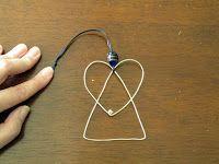 Learn how to DIY simple wire angel Christmas ornaments.