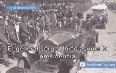 14 de febrero de 1931: toma posesión como presidente de Guatemala el general Jorge Ubico Castañeda – Hoy en la Historia de Guatemala San Salvador, United Fruit Company, The Unit, Movie Posters, Movies, Presidents, Antique Photos, City, Films