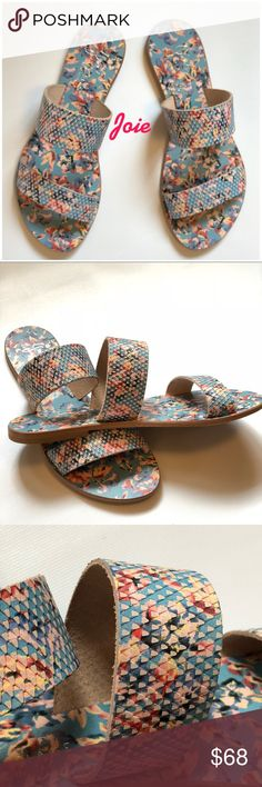 NWT joie a la plage floral blue sandals Euro 36 New without box. Joie a la plage blue floral sandals. Made in Italy size 36. Joie Shoes Sandals