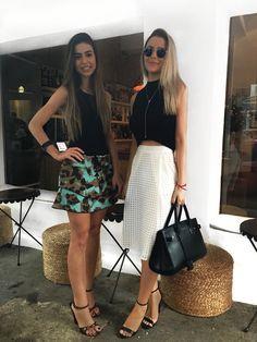 girls bff's bffs friends blonde  brunette inspo friendship sisterly sis inspo inspiration looks look midi styles style summer gab ghader city girl love girly inspo photos inspo photos