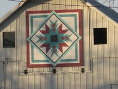 Indian Star Barn Quilt – rural Guthrie Center, IA - Painted Barn Quilts on Waymarking.com