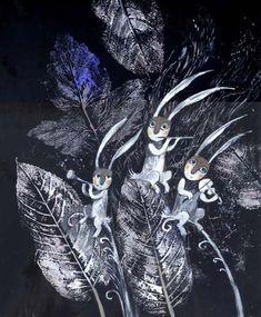 Сообщество иллюстраторов / Иллюстрации / Герасимова Дарья / трио Rabbit Illustration, Illustration Art, Arte Indie, Autumn Crafts, Wood Art, Cute Art, Alice In Wonderland, Printmaking, Illustrators