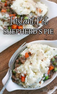 Need a use for leftover mashed potatoes? Why not delicious and easy instant pot shepherd's pie? This recipe is sure to become a family favorite! #instantpot #pressurecooker #shepherdspie #beef #recipes