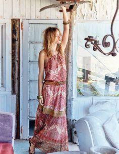 Hippie france robe soirée hippie chic style baba chic robe longue