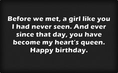 In this post you can find Birthday Messages for Girlfriend. Wishing her a glad birthday is the same amount of significance as getting her a delightful gift. Happy Birthday Wishes Messages, Birthday Wishes For Lover, Happy Birthday Love, Happy Birthday Images, Sweet Quotes For Girlfriend, Birthday Wishes For Girlfriend, Message For Girlfriend, Wish Quotes, Love Quotes For Her