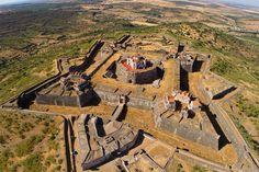 Nossa Senhora da Graça Fort and Elvas aerial view - Portugal