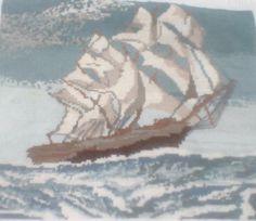 Cuadro barco en el mar