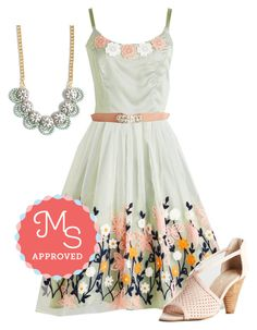 """""""Ethereal Anthem Dress"""" by modcloth ❤ liked on Polyvore featuring Seychelles, Summer, outfit and modcloth"""