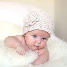 diadema de punto crochet con flor banda ancha para la cabeza de lana tejida en color