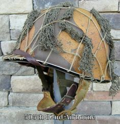 WWII M2 82nd Airborne Helmet PATHFINDER Front Seam Paratrooper Liner DBale Net