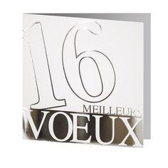 Cartes de Voeux 2016 - ref 20621 www.voeuxselection.fr Faire Part Selection Pour professionnel, entreprise, particulier. PROMOTION -10% jusqu'au 31/10/15