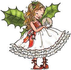 Penny Black - Slapstick Cling Stamp - Fairy Holly