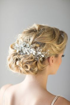 Bridal Hair Comb Beach Wedding Hair Accessory by PowderBlueBijoux