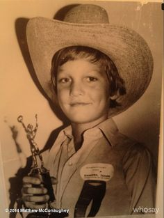 How cute was Matthew McConaughey as a kid?!
