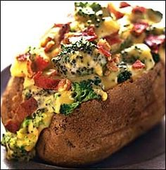 166 CALORIES! Healthy Super-Stuffed Potatoes, looks so good!!...