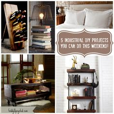 5 Industrial DIY Projects You Can Do This Weekend - GiddyUpcycled.com