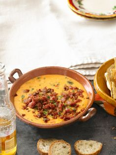 Queso Fundido with Roasted Poblano Peppers and Chorizo #cincodemayo