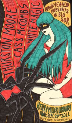 GigPosters.com - Thurston Moore - Cass Mccombs - White Magic