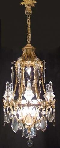 French Louis XVI St. 19th Century Ormolu And Baccarat Crystal Chandelier