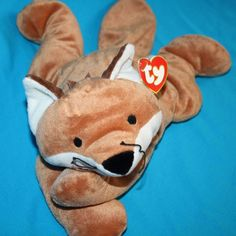 TY Pillow Pals FOXY the FOX Brown White Plush Stuffed Animal Soft Toy Buddy 1997…