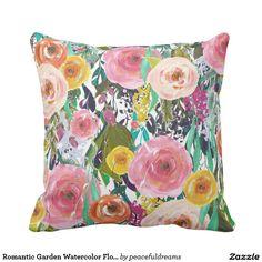 Romantic Garden Watercolor Flowers