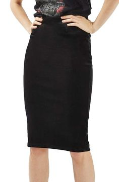 Topshop Velvet Pencil Skirt available at #Nordstrom