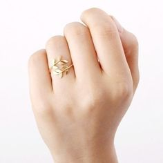 Blatt Ring, Verstellbar blatt ring von Superarmband auf DaWanda.com