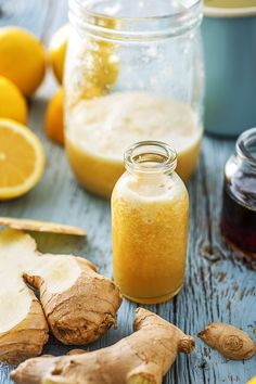 Stave off the sniffles this winter with a homemade ginger shot. And remember: a little goes a looooooong way. Healthy Smoothies, Healthy Drinks, Healthy Cooking, Smoothie Recipes, Cooking Recipes, Healthy Recipes, Juice Recipes, Simple Recipes, Cooking Tips