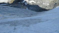 On the glacier of Breithorn.