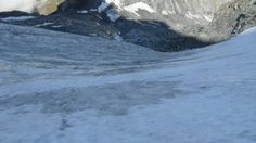 On the glacier of Breithorn.