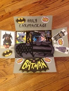 Holy Care Package Batman! Care package for my batman obsessed husband. :)