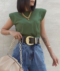 New Outfits, Cool Outfits, Summer Outfits, Fashion Outfits, Muscle Tee Outfits, Moda Fashion, Womens Fashion, Summer Fashion Trends, Business Casual Outfits