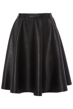 **PU Midi Skater Skirt  by Rare