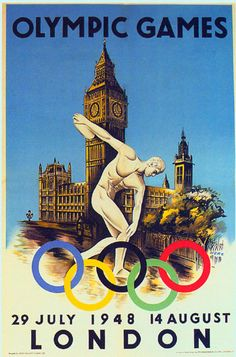 Free Vintage Posters, Vintage Travel Posters, Wall Art, Printables: Search results for London Retro Poster, Vintage Travel Posters, Theme Sport, London Olympic Games, Summer Games, Summer Olympics, Vintage Advertisements, Vintage Art, Vintage Style