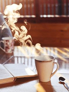 The perfect Coffee Steam Drink Animated GIF for your conversation. Discover and Share the best GIFs on Tenor. Gif Café, Coffee Gif, Coffee Love, Coffee Cups, Sexy Coffee, Funny Coffee, Good Morning Tea, Good Morning Images, Steam Gif
