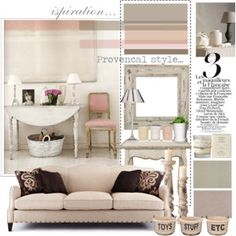 Rusty rose and cream- kind of a romantic, girlie feel to a room. Love it!