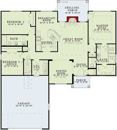 Charming 3-Bed House Plan with Open Floor Plan - 59986ND floor plan - Main Level
