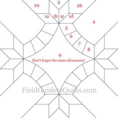 Diagrams for Dusty Miller and Friendship Knot quilt blocks